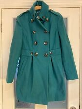 Ladies Clothes Size 10 Next Smart Teal Winter Coat Jacket Vgc