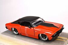 CHEVROLET CHEVELLE SS 1969 RED BLACK 1:24 BIG TIME MUSCLE JADA 90056 NEW