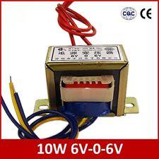 10W Dual 6V Power Transformer Input AC 220V/50Hz Output AC 6V-0-6V 0.8A EI48