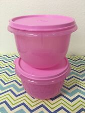 Tupperware Classic Mixing Bowls Set Of 2 Sheer Pink 4 Cups New Nesting Bowls