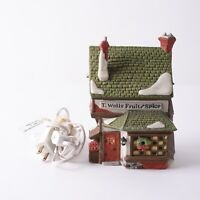 Department 56 T. Wells Fruit & Spice Shop Light Up Dickens Village Series House