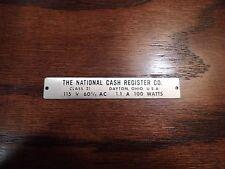 National Cash Register Tag NCR