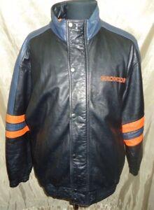 Denver Broncos Starter Leather Jacket size X Large NFL