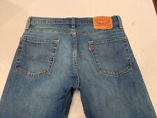 LEVI'S 513 Slim Straight Stretch Denim Blue Jeans Size 30 x 32