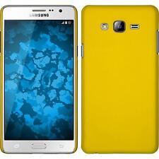 Custodia Rigida Samsung Galaxy On7 - gommata giallo + pellicola protettiva