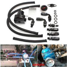 AU Universal Adjustable Fuel Pressure Regulator Line Kit 100PSI Oil Gauge AN6