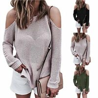 Women's Long Sleeve Knitwear Casual Sweater Pullover Jumper Loose Cardigan Tops