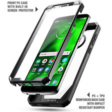 POETIC【Guardian】For Moto G6 TPU Case Rugged Clear Hybrid Bumper Cover Black