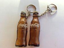 2  porte clefs  Coca-Cola-bouteille en verre- boisson- soda-vintage-keychain-2