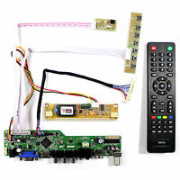 "TV HDMI VGA AV USB LCD Control Board For 18.5"" LM185WH1 M185XW01 1366x768 LCD"