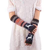 Women Ladies Winter Wrist Arm Hand Warmer Knitted Long Fingerless Gloves Mitten