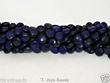 10mm Lapis Lazuli Puffy Coin Gemstone Beads for Jewellery Making