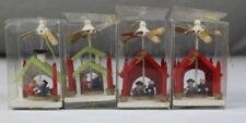 4x Holzpyramide , Weihnachtspyramide - Pyramiden aus Holz - je ca. 8 cm.  /S284