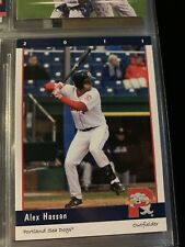 Alex Hassan Minor league baseball card Portland sea dogs 2011