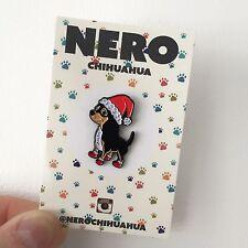 Perro Chiuahua Perrito Suave Esmalte Navidad Stocking Relleno Insignia PIN DE SOLAPA SOMBRERO