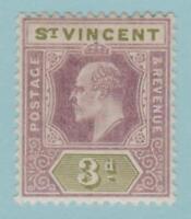 St Vincent 75 Mint Hinged OG * - No Faults Very Fine!