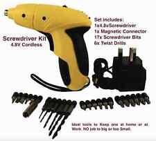 NUOVO Javelin 4.8v ricaricabili Cordless Cacciavite Kit, 25pc, i lavori di casa, D.I. Y-UK