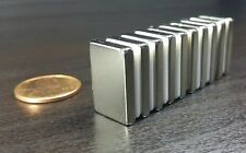 10 Neodymium Block Magnets N52 Grade Super Strong Rare Earth 3/4