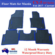 Heavy Duty Rubber Floor Mats Tailor Made For Mazda CX5 KF Series 2018 2019 Blue