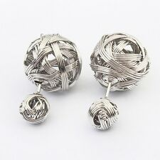 Fashion Vintage Women Elegant Gold Silver Drop Dangle Ear Stud Earrings Jewelry