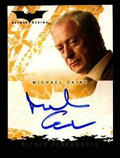 Batman Begins Movie Michael Caine as Alfred Pennyworth Autograph Card Topps 2005