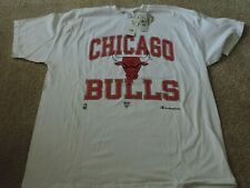 Champion NBA Chicago Bulls Basketball White T Shirt Vintage with Tags Unused