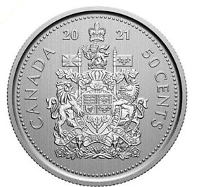 2021 Canada 50 cent Coat of arms logo --- Specimen finish -- coin only: from set