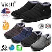 Women's Ankle Shoes Warm Wool Lining Flat Ankle Snow Boots Winter Waterproof BJ