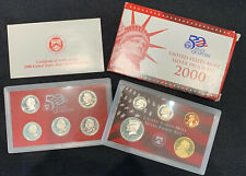 2000 S Silver Proof Set United States Mint With COA 10 Coins in Case with COA