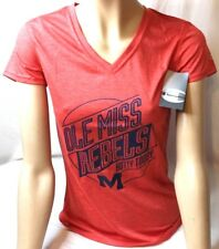 Champion T-Shirt NCAA Ole Miss Rebels Women's Red Jersey V-Neck Small S NWT