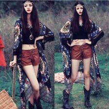 Tribal Mandala Kimono Loose Shawl Sheer Cardigan Boho Chiffon Tops Jacket Blouse
