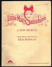 LIttle Mary Sunshine Vocal Score 1960 Sheet Music