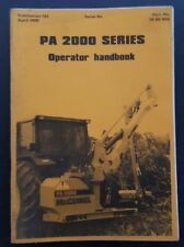 McCONNEL PA2000 SERIES HEDGECUTTER OPERATORS MANUAL