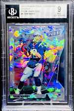 Tom Brady 2018 The National GOLD VIP Prizm Cracked Ice #/50 BGS 9