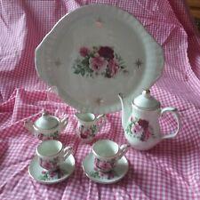 Miniature Tea Set Porcelain Roses