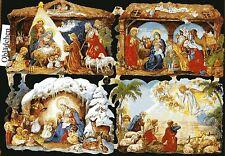 # GLANZBILDER # EF 7202 Weihnachten Krippen GLIMMER Motiv Gloria inexelsisdeo