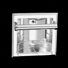 RECESSED SOAP DISH w/ Grab BAR Chrome Finish Bathroom Shower Bath Vanity Tub NEW