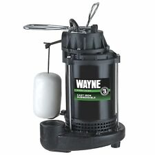 WAYNE CDU790 1/3 HP Submersible Cast Iron and Steel Sump Pump With Integrated...