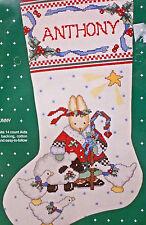 Christmas Stocking Cross Stitch Kit Daisy Kingdom Holiday Honey Bunny NIP 1991