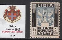 Italy Libia - Sassone n.163 cv 2150$ - CERTIFICATE - SUPER CENTERED MNH**