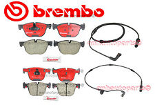 BMW E70 X5 07-08 X6 Complete Front And Rear Disc Brake Pads KIT & Sensors Brembo