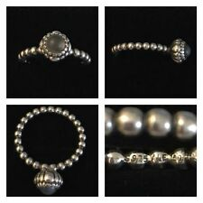Moonstone Stackable Sterling Silver Fine Rings