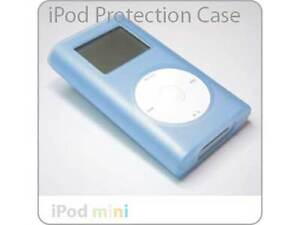 iPod Mini Click Wheel BLUE Silicone Case Skin + Clip NEW!!!
