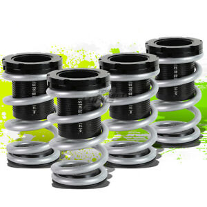 """FOR 01-05 CIVIC EM2 ES FRONT+REAR RACE COILOVER 1-3""""LOWERING COIL SPRING SILVER"""
