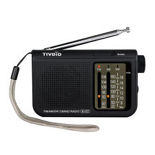 TIVDIO V-117 FM / AM / SW 3-Band Radio Battery Powered Emergency Radio Fast Ship