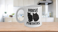 Black Cat Mug White Coffee Cup Funny Gift for House Panther Owners Lover Rescue