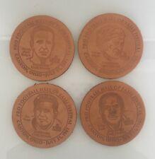 1981 Pro Football Hall of Fame Enshrinees Civic Dinner Coaster Set (4)