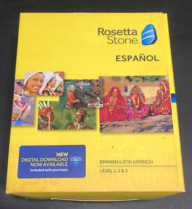 Rosetta Stone Espanol Level 1-3 Spanish Latin America Version 4 30903.