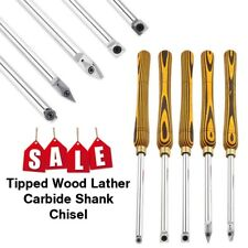 Tipped Wood Lathe Carbide Shank Chisel Diamond Round Square Insert Tool Set
