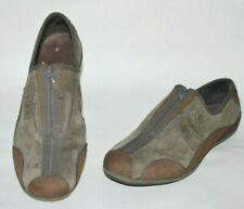 Merrell Womens Arabusque Shoes Size 7.5 Brown Suede Leather Zipper Flat